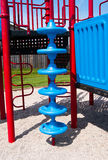 Playground spiral climbing structure Stock Photography