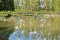 Playground Spring Flooding Royalty Free Stock Images