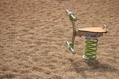 Playground spring toy. Close up view of a playground spring toy on a park Royalty Free Stock Photography