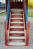 Playground Stairs. A set of stairs on a playscape at a playground Stock Photography