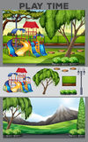 Playground station in the park Royalty Free Stock Photos