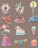 Playground stickers stock illustration