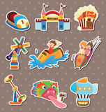 Playground stickers. Cartoon vector illustration Stock Photos