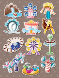 Playground stickers Royalty Free Stock Images