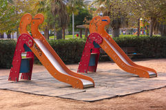 Playground with street graffiti Stock Photography