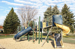 Playground in suburban neighborhood Royalty Free Stock Image
