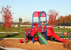 Playground in the suburbs. Great for backgrounds or industry illustration Stock Image