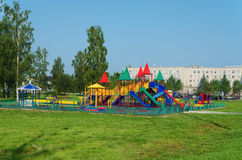 Playground  in a summer park Stock Images