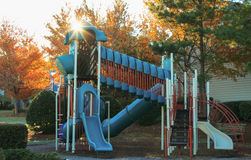 Playground and Sun burst Royalty Free Stock Photography