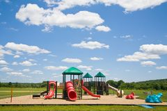 Playground in a Sunny Day Stock Photography