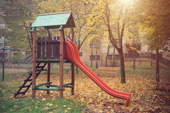 Playground on a sunny day Royalty Free Stock Photography