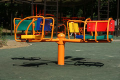 Playground on a sunny summer day Royalty Free Stock Photography