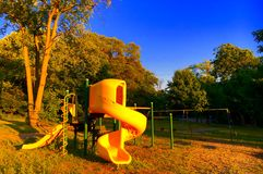 Playground At Sunset Royalty Free Stock Image
