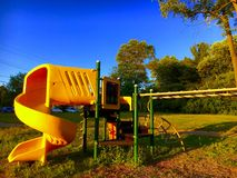 Playground At Sunset Royalty Free Stock Images