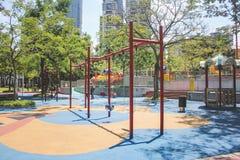 Playground in Suria KLCC park in Kuala Lumpur. Kuala Lumpur, Malaysia - October 21, 2017: Playground in Suria KLCC park in Kuala Lumpur Royalty Free Stock Photo