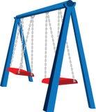 Playground Swing Illustration. An illustration of a playground swing set Stock Photo