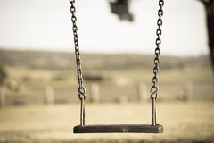 Playground swing at park Royalty Free Stock Photos