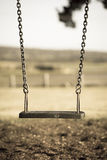 Playground swing at park with nobody Stock Photos