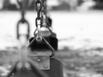 Playground swing set royalty free stock photography