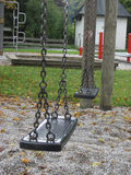 Playground swing set. Selective focus. Stock Image