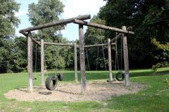 Playground swing Stock Image