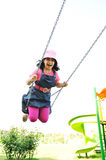 On the playground, swinging Royalty Free Stock Photography