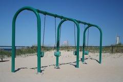 playground swings 免版税库存照片