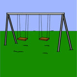 Playground swings Royalty Free Stock Images