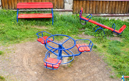 Playground with swings Stock Photography