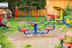 Playground with swings Royalty Free Stock Photo
