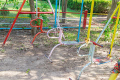 Playground Swings Royalty Free Stock Photography