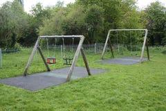 Playground swings Royalty Free Stock Image