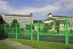 Playground for tennis in the Sanatorium Belokuriha Stock Images