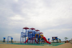 Playground. Thailand has a vibrant playground containing multiple types express the same machine Royalty Free Stock Photos