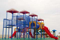 Playground. Thailand has a vibrant playground containing multiple types express the same machine Stock Image