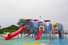Playground. Thailand has a vibrant playground containing multiple types express the same machine Stock Images