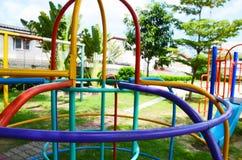 Playground in thailand. Playground of the village In daylight stock photos