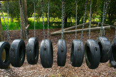 Free Playground Tire Bridge Swing Royalty Free Stock Photography - 1549777