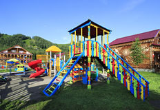 Playground in the Tourist complex Royalty Free Stock Images