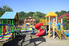Playground in the Tourist complex Royalty Free Stock Photos
