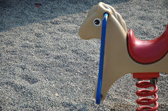 Playground Toy. Bouncing horse in a park playground Royalty Free Stock Photography