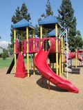 Playground toys. Play area at Park in Covina, California Stock Image
