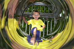 Playground tube tunnel Royalty Free Stock Photography