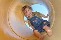 Playground Tube Tunnel stock photography