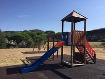 Playground in Tuscany, Italy Stock Images