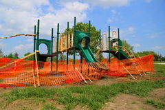 Playground under construction Royalty Free Stock Image