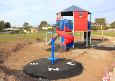Childerens playground under construction Royalty Free Stock Image
