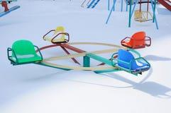 Playground under the snow Royalty Free Stock Photo