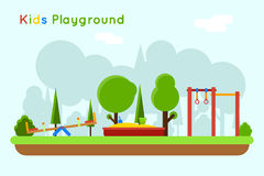 Playground vector background Royalty Free Stock Photo