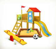 Playground, vector illustration Stock Photography